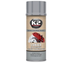 K2 BRAKE CALIPER PAINT L346SR 400 ML lakier do zacisków i bębnów ham. - SREBRNY